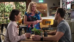 Elly Conway, Sheila Canning, Aaron Brennan in Neighbours Episode 8215