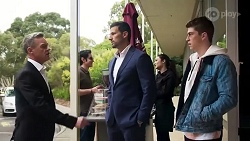 Paul Robinson, Pierce Greyson, Hendrix Greyson in Neighbours Episode 8215