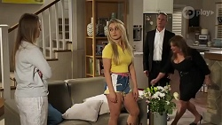 Harlow Robinson, Roxy Willis, Paul Robinson, Terese Willis in Neighbours Episode 8215