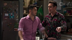 David Tanaka, Aaron Brennan in Neighbours Episode 8216