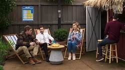 Kyle Canning, Ned Willis, Scarlett Brady, David Tanaka in Neighbours Episode 8216