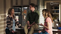 Amy Williams, Kyle Canning, Scarlett Brady in Neighbours Episode 8217