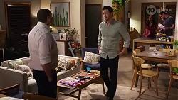 Toadie Rebecchi, Finn Kelly, Dipi Rebecchi, Shane Rebecchi in Neighbours Episode 8218
