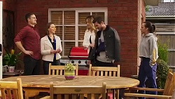 Kyle Canning, Amy Williams, Scarlett Brady, Ned Willis, Bea Nilsson in Neighbours Episode 8218