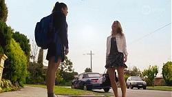 Yashvi Rebecchi, Scarlett Brady in Neighbours Episode 8218