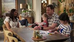 Dipi Rebecchi, Hugo Somers, Shane Rebecchi, Nell Rebecchi in Neighbours Episode 8220