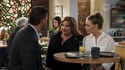 Pierce Greyson, Terese Willis, Chloe Brennan in Neighbours Episode 8220