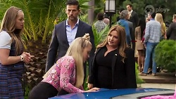 Harlow Robinson, Pierce Greyson, Roxy Willis, Terese Willis in Neighbours Episode 8220