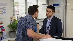 Aaron Brennan, David Tanaka in Neighbours Episode 8221