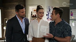 Pierce Greyson, Chloe Brennan, Aaron Brennan in Neighbours Episode 8221