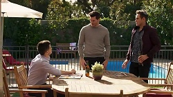 David Tanaka, Finn Kelly, Aaron Brennan in Neighbours Episode 8221