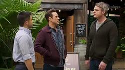 David Tanaka, Aaron Brennan, Gary Canning in Neighbours Episode 8221