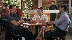 Aaron Brennan, Chloe Brennan, David Tanaka in Neighbours Episode 8221