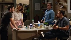 Ned Willis, Scarlett Brady, Kyle Canning, Aaron Brennan in Neighbours Episode 8222