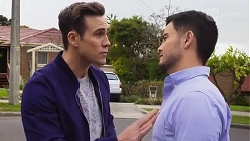 Aaron Brennan, David Tanaka in Neighbours Episode 8222