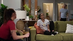 Bea Nilsson, Yashvi Rebecchi, Finn Kelly in Neighbours Episode 8222