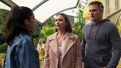 Yashvi Rebecchi, Amy Williams, Kyle Canning in Neighbours Episode 8223