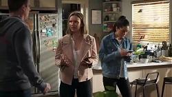 Kyle Canning, Amy Williams, Yashvi Rebecchi in Neighbours Episode 8223