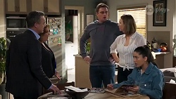Paul Robinson, Terese Willis, Kyle Canning, Amy Williams, Yashvi Rebecchi in Neighbours Episode 8223