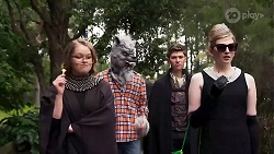 Harlow Robinson, Richie Amblin, Hendrix Greyson, Mackenzie Hargreaves in Neighbours Episode 8224