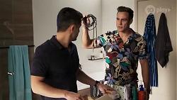 David Tanaka, Aaron Brennan in Neighbours Episode 8225