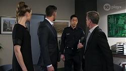 Chloe Brennan, Pierce Greyson, Constable Miles Doughty, Paul Robinson in Neighbours Episode 8225