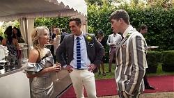 Roxy Willis, Aaron Brennan, Hendrix Greyson in Neighbours Episode 8227
