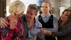 Prue Wallace, Paul Robinson, Harlow Robinson, Terese Willis in Neighbours Episode 8228