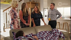 Prue Wallace, Ned Willis, Harlow Robinson, Terese Willis, Paul Robinson in Neighbours Episode 8228