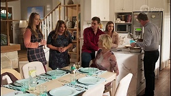 Harlow Robinson, Terese Willis, Kyle Canning, Amy Williams, Prue Wallace, Paul Robinson in Neighbours Episode 8228