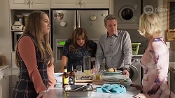 Harlow Robinson, Terese Willis, Paul Robinson, Prue Wallace in Neighbours Episode 8229