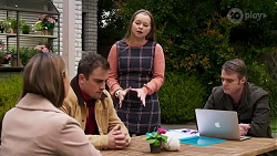 Amy Williams, Kyle Canning, Harlow Robinson, Gary Canning in Neighbours Episode 8229