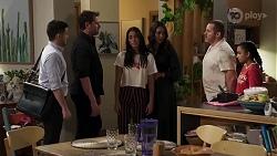 David Tanaka, Shane Rebecchi, Yashvi Rebecchi, Dipi Rebecchi, Toadie Rebecchi, Kirsha Rebecchi in Neighbours Episode 8230