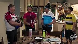 Toadie Rebecchi, Aaron Brennan, Karl Kennedy, Gary Canning, David Tanaka in Neighbours Episode 8230