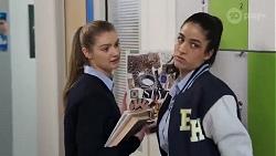 Olivia Lane, Yashvi Rebecchi in Neighbours Episode 8230