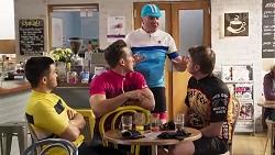 David Tanaka, Aaron Brennan, Karl Kennedy, Gary Canning in Neighbours Episode 8230