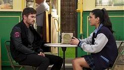 Ned Willis, Yashvi Rebecchi in Neighbours Episode 8230