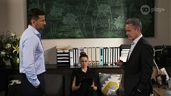 Pierce Greyson, Chloe Brennan, Paul Robinson in Neighbours Episode 8233