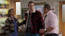 Amy Williams, Kyle Canning, Toadie Rebecchi in Neighbours Episode 8233
