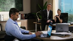Pierce Greyson, Paul Robinson, Chloe Brennan in Neighbours Episode 8233