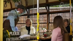 Gary Canning, Prue Wallace, Harlow Robinson, Roxy Willis in Neighbours Episode 8233