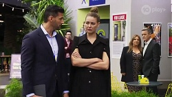 Pierce Greyson, Chloe Brennan, Terese Willis, Paul Robinson in Neighbours Episode 8233