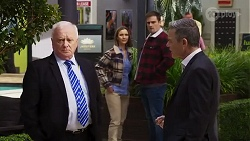 Massimo Rossi, Amy Williams, Kyle Canning, Paul Robinson in Neighbours Episode 8233