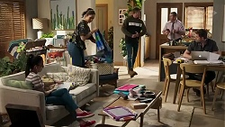 Kirsha Rebecchi, Dipi Rebecchi, Kyle Canning, Toadie Rebecchi, Shane Rebecchi in Neighbours Episode 8235