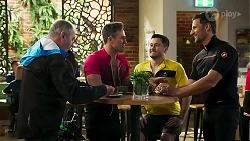 Karl Kennedy, Aaron Brennan, David Tanaka, Pierce Greyson in Neighbours Episode 8235