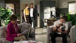 Susan Kennedy, Chloe Brennan, Pierce Greyson, Hendrix Greyson in Neighbours Episode 8235