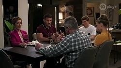 Susan Kennedy, Pierce Greyson, Karl Kennedy, Hendrix Greyson, Chloe Brennan in Neighbours Episode 8235