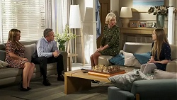 Terese Willis, Paul Robinson, Prue Wallace, Harlow Robinson in Neighbours Episode 8237