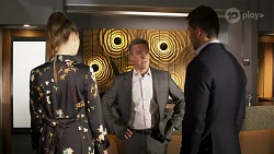 Chloe Brennan, Paul Robinson, Pierce Greyson in Neighbours Episode 8238
