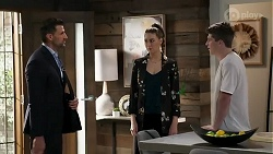 Pierce Greyson, Chloe Brennan, Hendrix Greyson in Neighbours Episode 8239